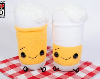 Li'l Buddy (non-alcoholic) Beer glass plush, in 2 pour options