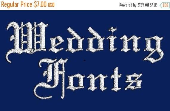 SALE 65% Off Elegant Wedding Machine Embroidery Monogram Designs Set Instant Download Sale