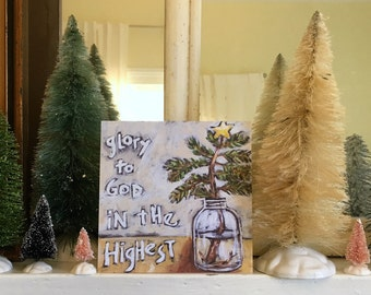 Glory to God Pack of 10 Christmas Cards from original painting