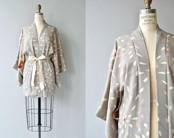 Hanabira silk haori jacket | vintage 1950s silk kimono jacket | silk japanese kimono