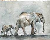 Gray Children room decor Grey kids room decor Elephant with Baby PRINT Large 11x14 Elephant PRINT Elephant Painting Elephant artwork zoo dp