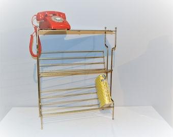 Vintage Metal 50's  Table /  Floor Stand / Rack