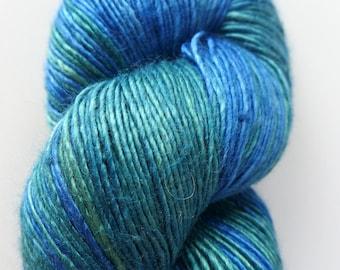 The Natural Dye Studio Precious - Crete - Ocean Blue Green Waters Hand Dyed Luxury Silk Fingering Yarn