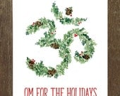 OM for the Holidays, Yoga-Inspired Holiday Card (Blank Inside)