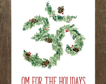 8 Pack Assorted Yoga Holiday Cards (Blank Inside-Choose Your Own)