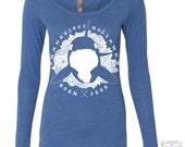 Womens ORCA No Tanks - Long Sleeve Scoop Neck Tri Blend t shirt [+Colors] S M L XL XXL