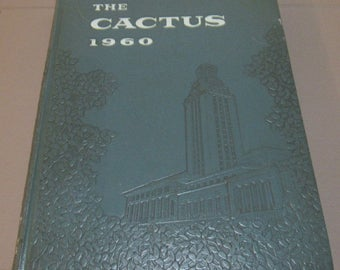 Vintage Yearbook UT Austin Cactus 1960 Texas Longhorns