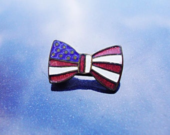 """Small USA Edwardian Political """"Giveaway"""" - Enameled brass"""