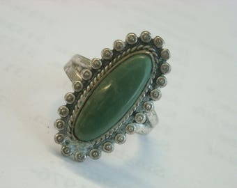 sterling silver turquoise ring  ( F 22 )