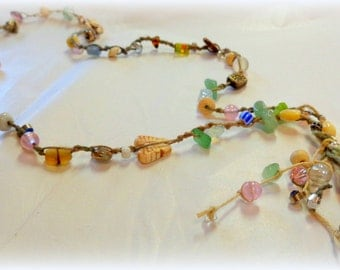 Beachy Bohemian Beaded Necklace