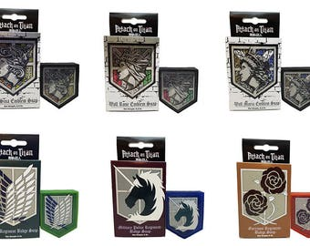 Attack on Titan Set of 6 Soaps, Scout Regiment - Survey Corps - Military Police - Garrison Regiment