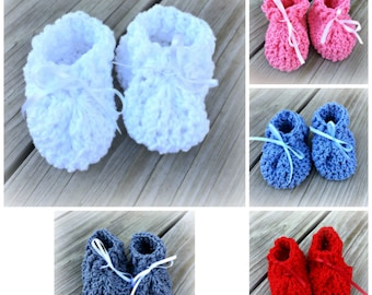 Cotton Crochet Baby Booties/Booties/Cotton Baby Booties /SWEET BOOTIES (Ready to Ship)