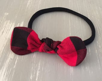 Newborn through toddler knot bow headband, newborn girl photo prop, newborn photography, knot headband, bow tie headband
