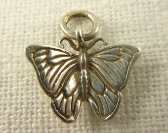 Vintage Sterling Silver Butterfly Charm