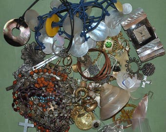 Costume Jewelry and Rosaries for Crafting and Artwork