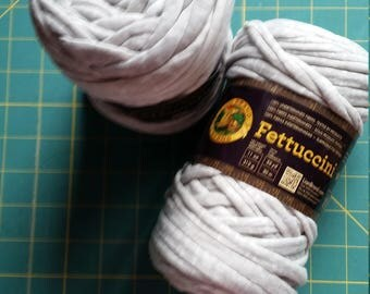 Lyon Brand Fettuccini Yarn-super bulky repurposed yarn