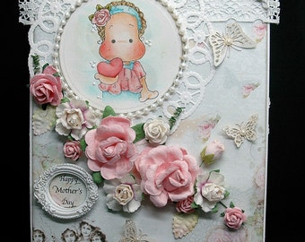 Magnolia Tilda Handmade Card