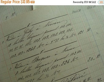 ONSALE 1800s Antique Handwritten Gorgeous French Ledgers
