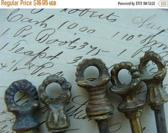 ON SALE 5 Antique 1900s Hardware Lot Salvaged Ornate Edwardian Assemblage Pieces
