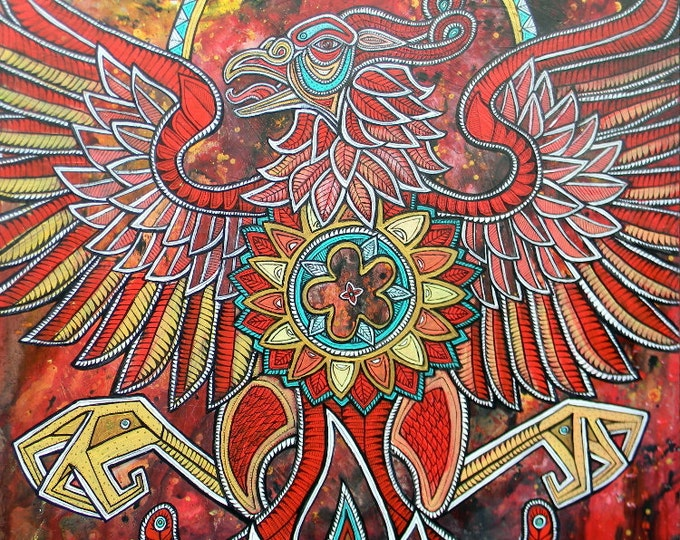 Flight of the Firebird original painting by Lynnette Shelley