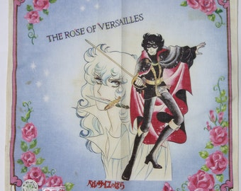 70's Vintage The Rose of Versailles handkerchief (Oscar and Andre)