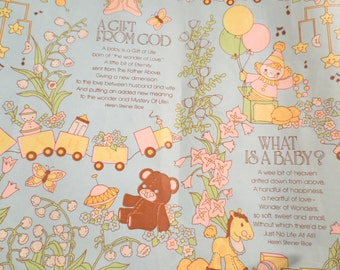Vintage Wrapping Paper Baby Shower Gift Wrap Wrapping Paper Helen Steiner Rice