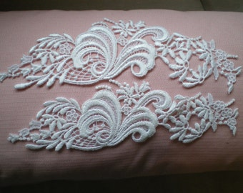 Two Beautiful Appliques Perfect for Wedding Gowns, Wedding DIY, Crafts