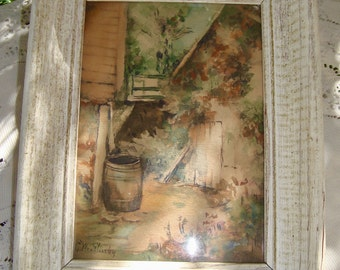G. Weatherby Water Color Print Framed
