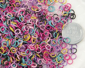 Colorful Jump Rings - 5mm Color Jump Rings - 45g (About 600 pcs)