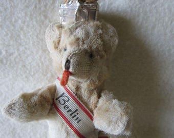 Vintage Miniature Berlin, Germany Teddy Bear, Velvet, Velveteen
