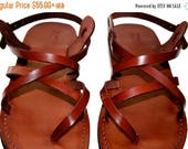 20% Off Brown Triple Leather Sandals For Men & Women - Handmade Sandals, Leather Flats, Leather Flip Flops, Unisex Sandals, Brown Leather Sa
