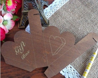 Heart Wooden Box Template