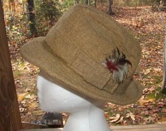 Pure Wool HARRY LEVINSON Men's Fedora Hat Size 7 -1016