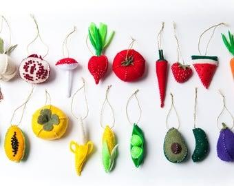 Garden Veggie Ornament