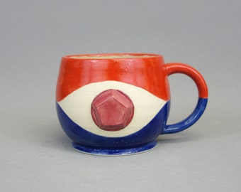 Steven Universe Mug: Crystal Gem Inspired Stoneware Ceramic Coffee Mug