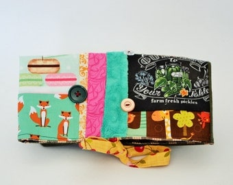 Pencil case, toilet bag,,Foldover, foldover clutch, fold over bag, foldover clutch, pickle, foldover patchwork, pouch, bag macaroon, pencil,