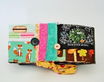 Pencil case, toilet bag,,Foldover, foldover clutch, fold over bag, foldover clutch, pickle, foldover patchwork, pouch, bag macaroon, pencil,