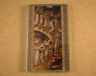 The Golden Stairs Painting Rectangle Glass Tile Paperweight by Edward Burne-Jones