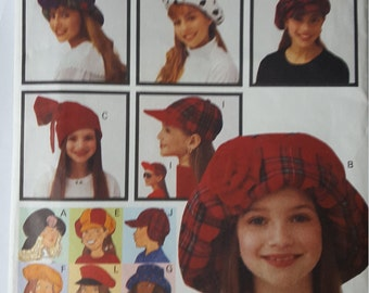 Child 8 different Hats Butterick 6942