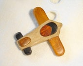 Cute Realistic Wooden Airplane Button - 4 different kind of wood