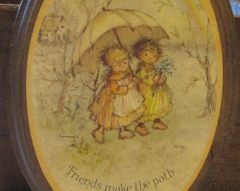 A Charming Vintage Oval Hallmark Friendship Plaque by Mary Hamilton