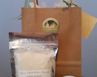 Nature's Mag-Ease-ium Cream Remedy and Skin Salvation Scrub Gift Bag Ready to Gift