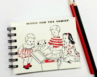 Music for the Family, Upcycled mini notebook