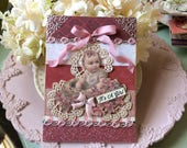 Handmade Baby Girl Card - Welcome New Baby Girl