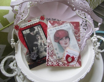 Valentine's Day Cards (set of 2) - Handmade Love Cards