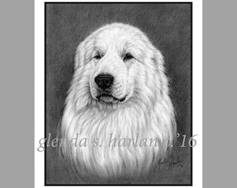 Great Pyrenees Dog Fine Art Note Cards - PACK of EIGHT
