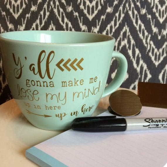 Mint Green and Gold Tea or Coffee Mug