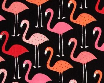 Flamingos on Black - Adj Strap, Hipster, Purse, Shoulder Bag, Across Body, Hands Free, Lots of Pockets