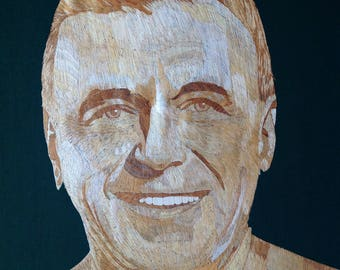 Frank Sinatra Portrait Handmade with rice straw Great collectible for Sinatra fan Hollywood legend The Blue Eyes Priceless  On SALE for 250