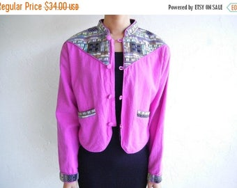 35% OFF SPRING SALE The Vintage Ethnic Aztec Purple Jacket